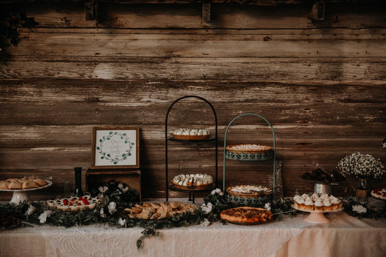 Tabitha Roth Schweizer Hochzeitsfotografin  USA Colorado destination wedding Desserbuffet