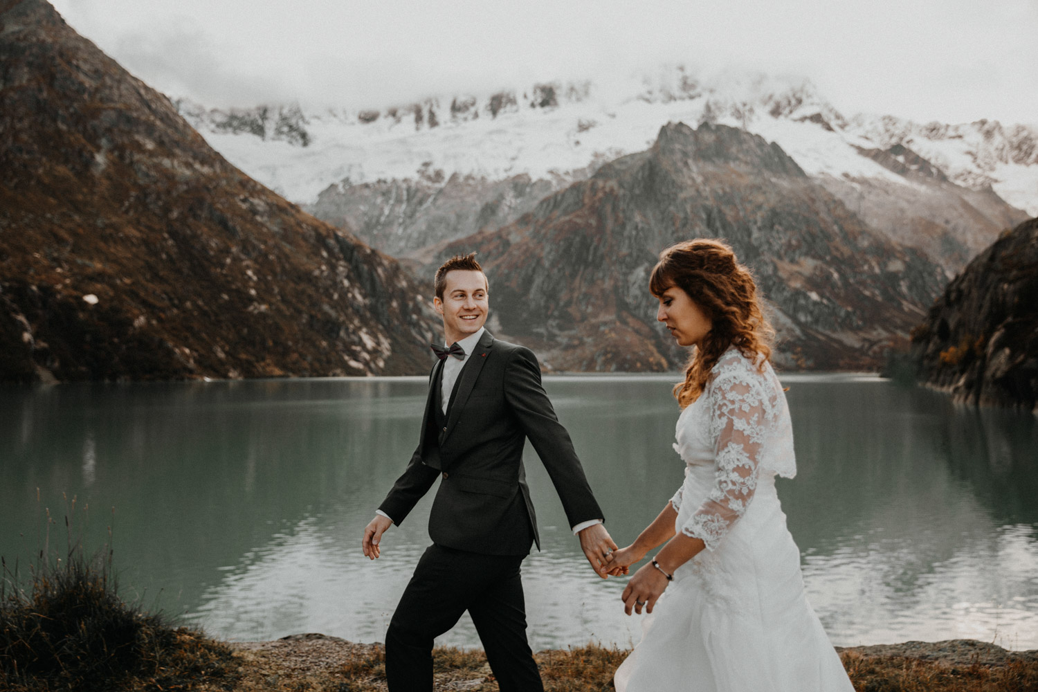Swiss mountains wedding photographer