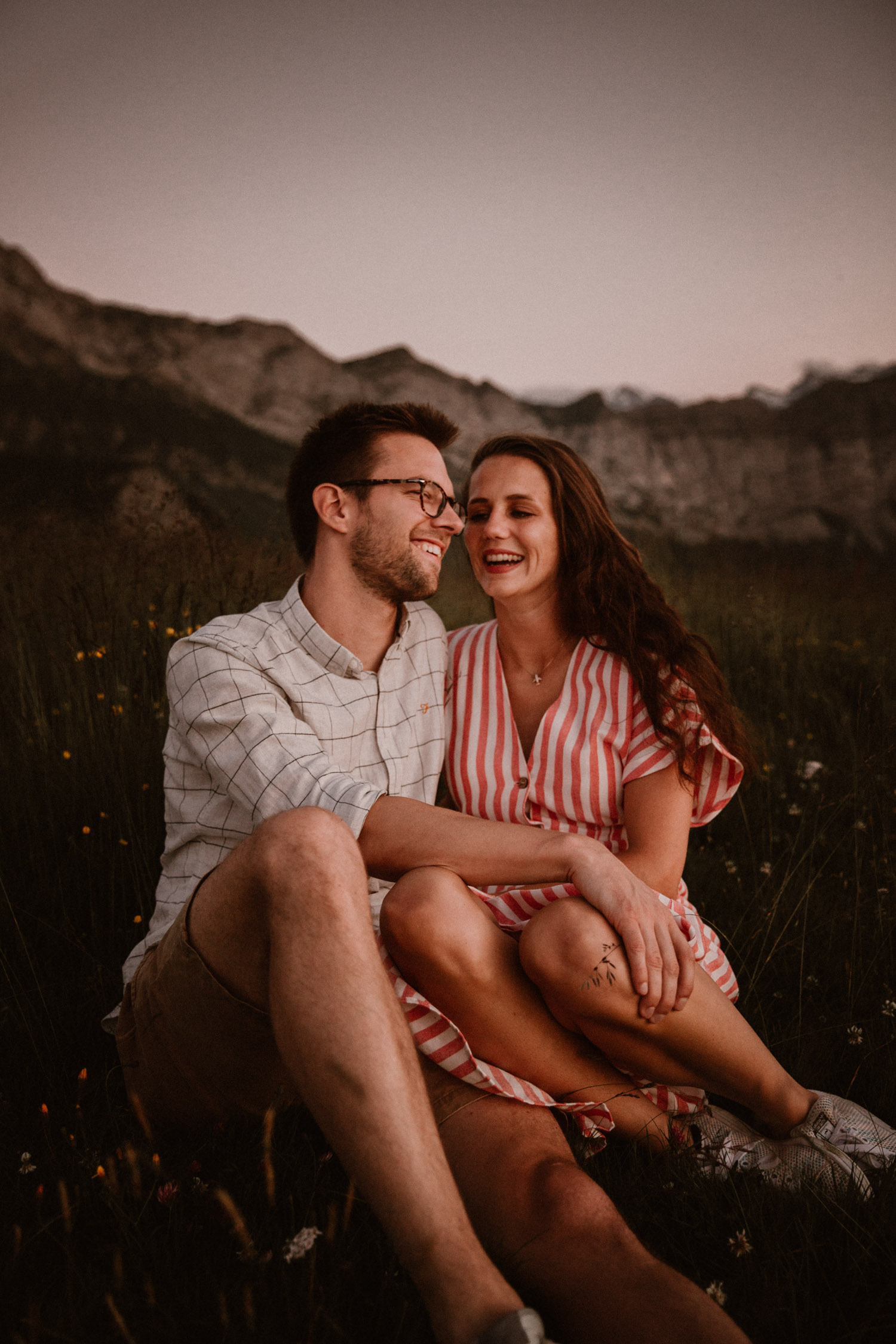 Couple Shoot in Swiss Mountains couple wedding photographer Switzerland unposed natural beautiful elopement