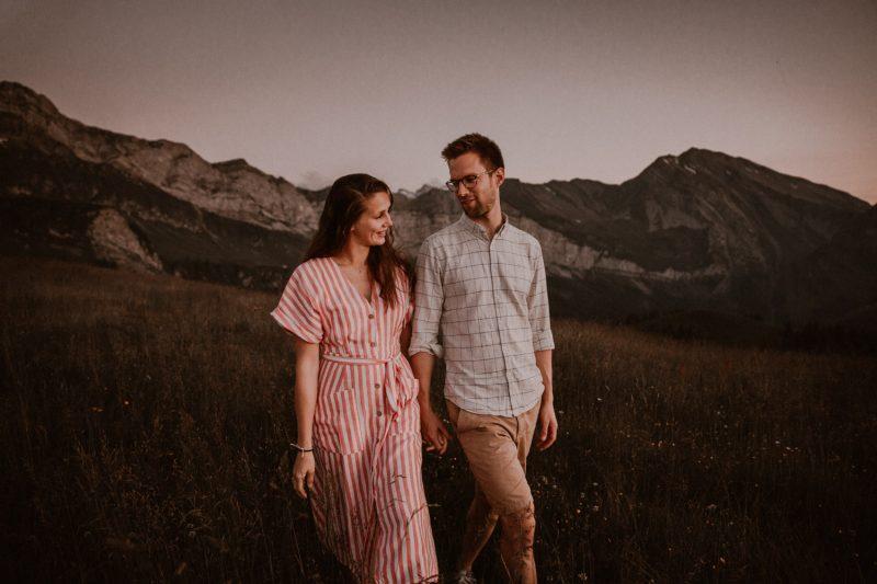 Couple Shoot in Swiss Mountains couple wedding photographer Switzerland unposed natural beautiful elopement