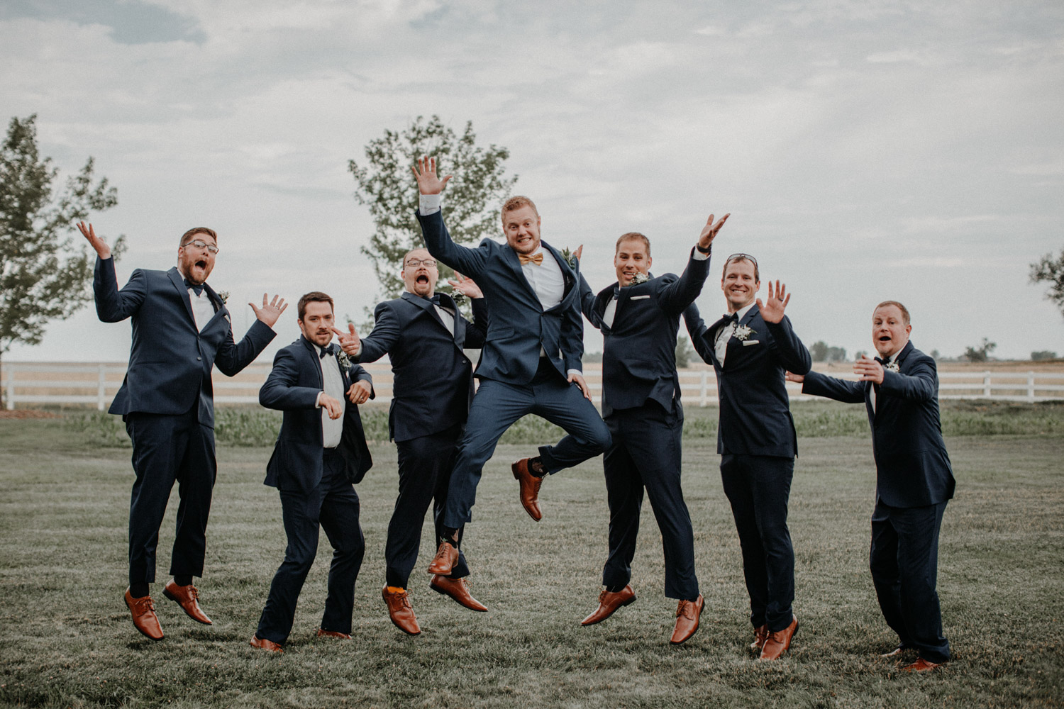 Swiss destination wedding photographer Colorado Denver Vintage Wedding groom groomsmen