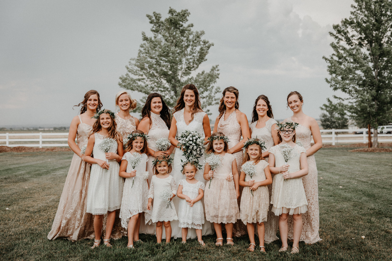 Swiss destination wedding photographer Colorado Denver Vintage Wedding bridesmaids bridal party