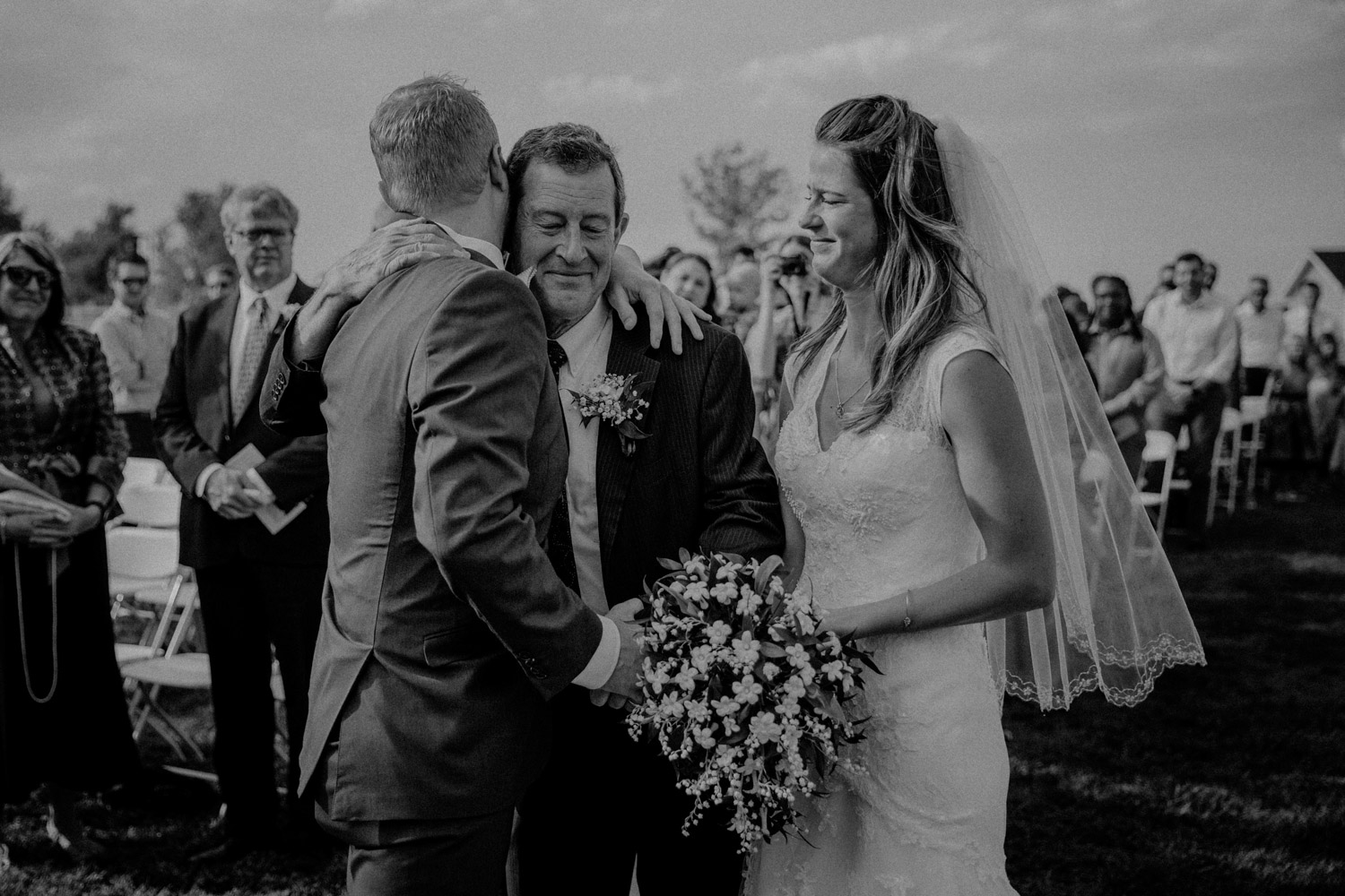 Swiss destination wedding photographer Colorado Denver Vintage Wedding groom bride father