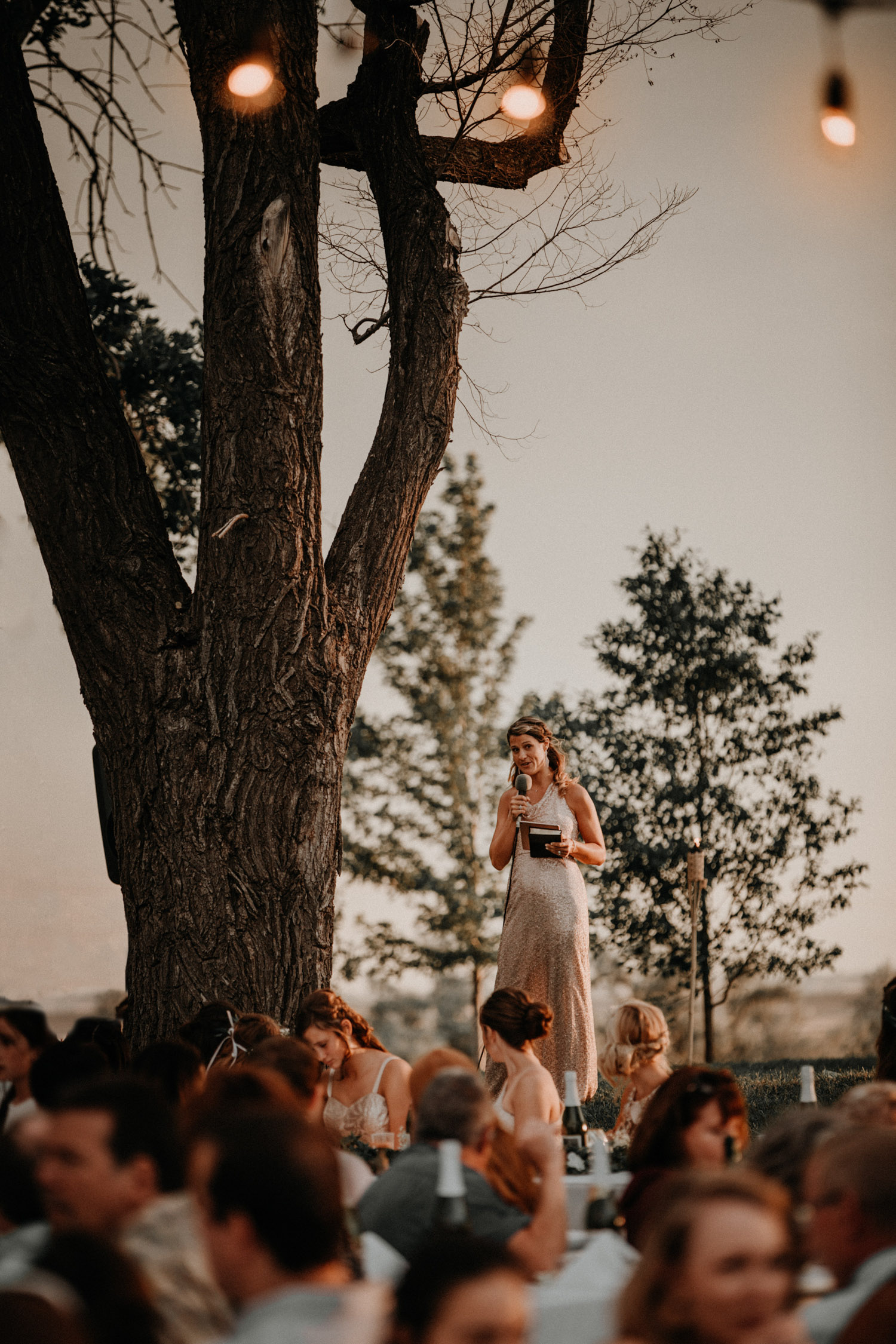 Swiss destination wedding photographer Colorado Denver Vintage Wedding speech