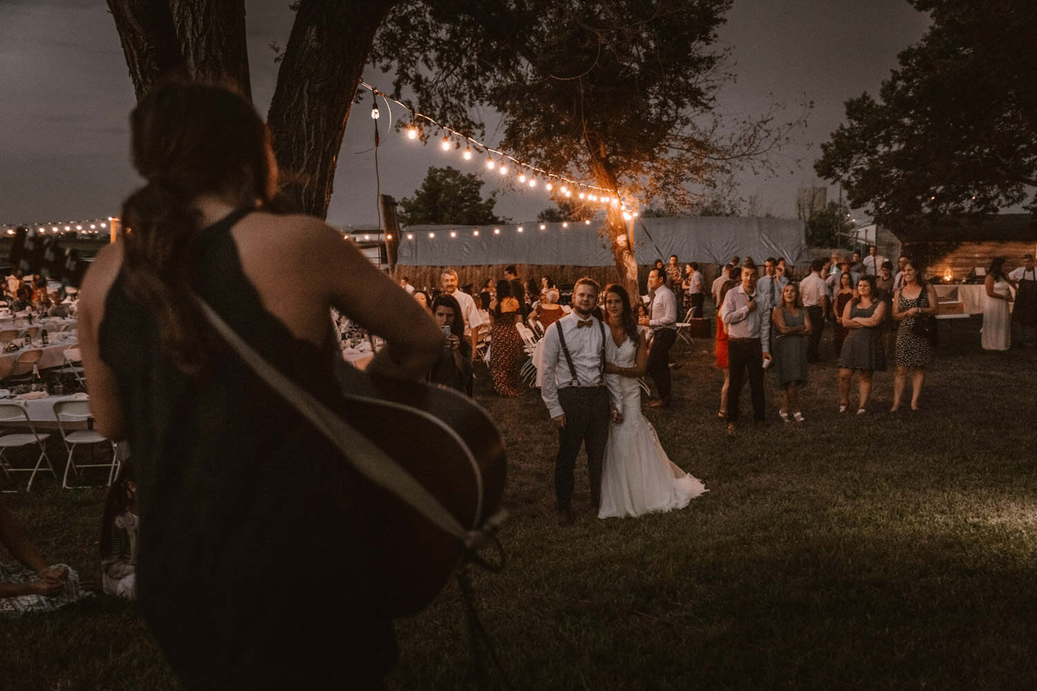 Swiss destination wedding photographer Colorado Denver Vintage Wedding barn wedding light bulbs