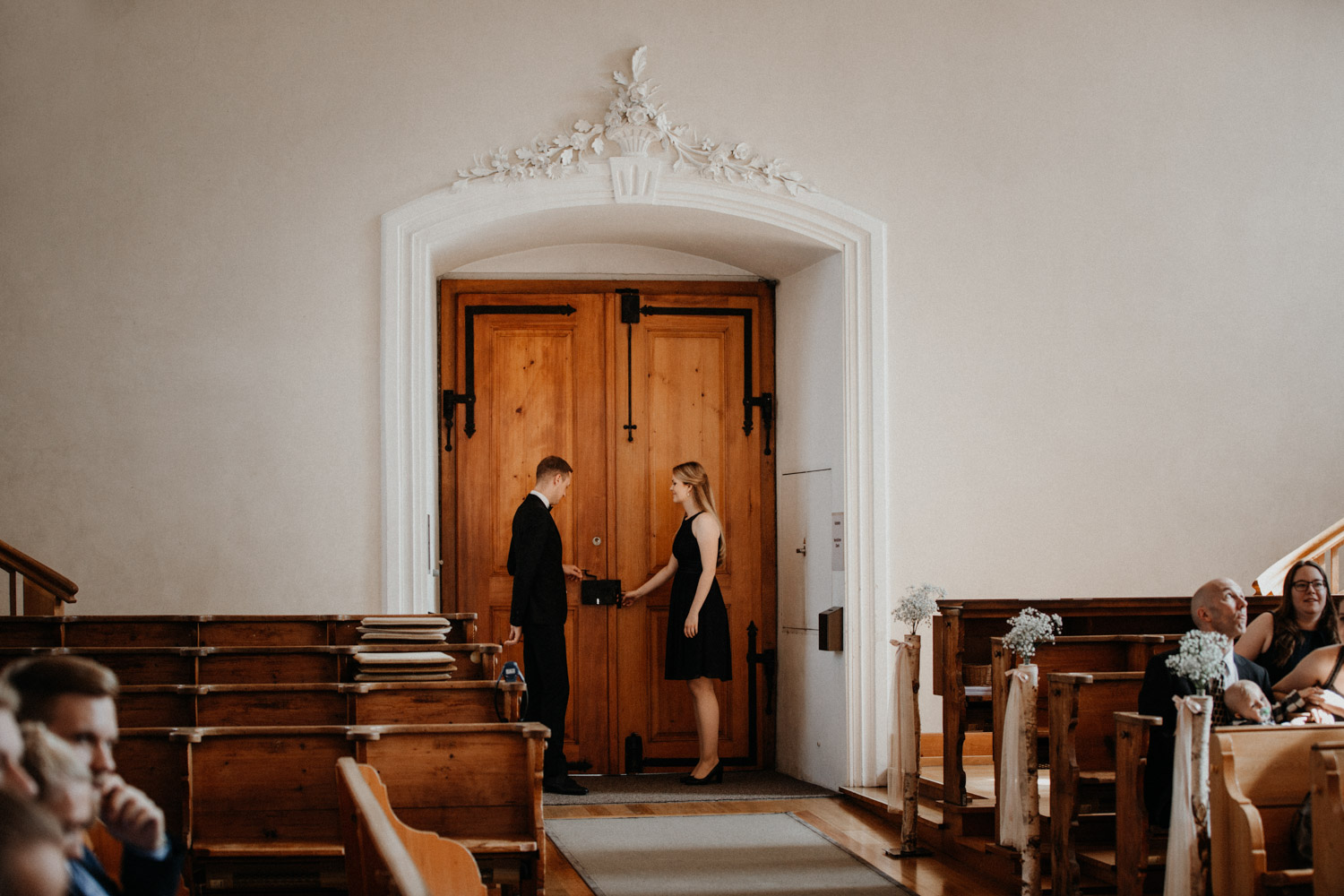 Wedding photographer in Switzerland church wedding