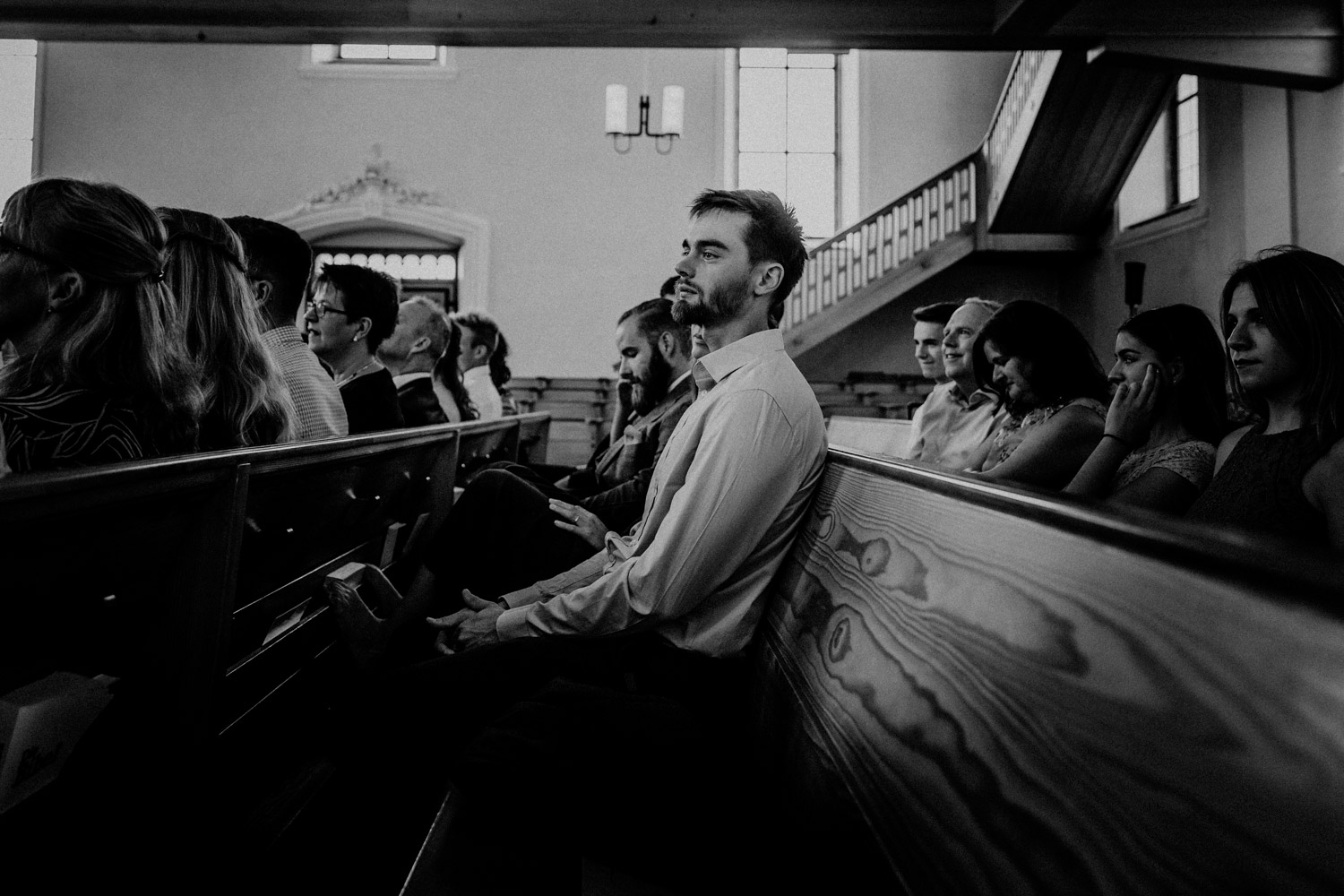 Wedding photographer in Switzerland church wedding guest