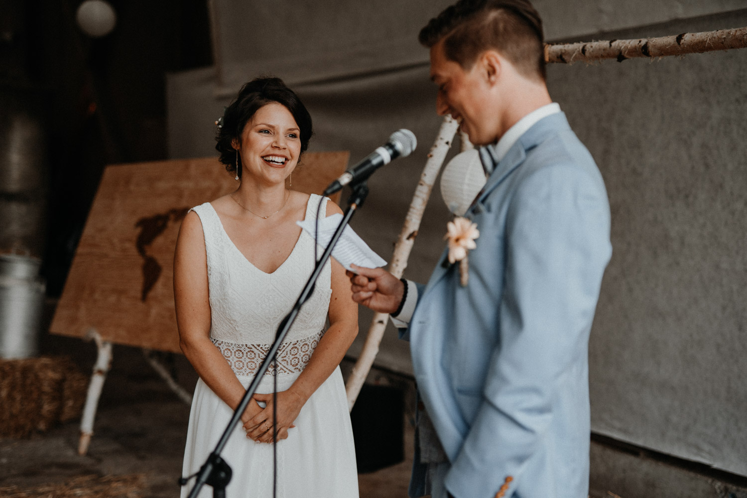 Vintage Industrial Bohemian Wedding in Switzerland wedding photographer elopement photographer getting ready farm wedding free ceremony