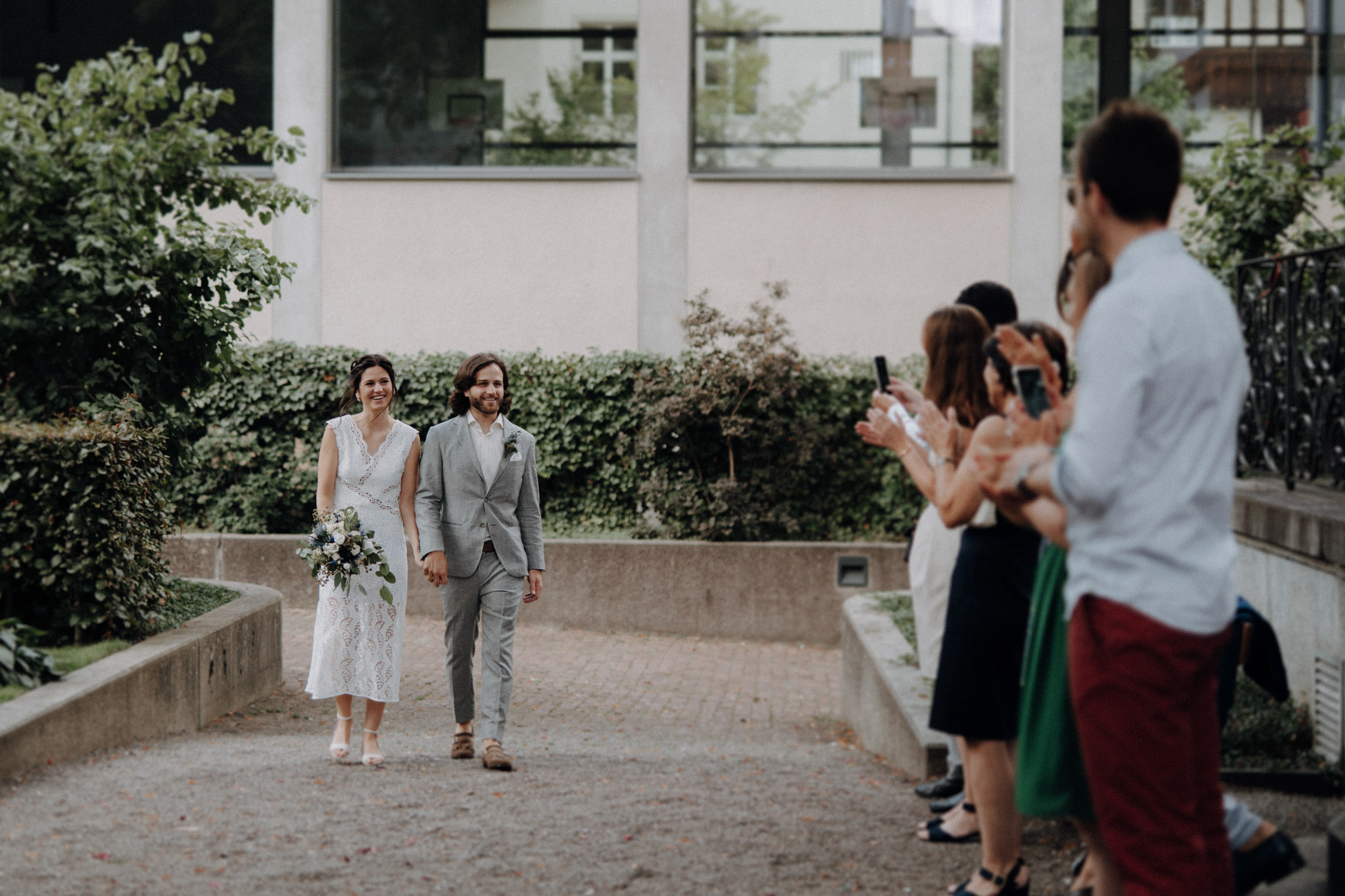 Wedding photographer switzerland basel natural unposed civil wedding old town Basel Minster couple shoot bohemian style